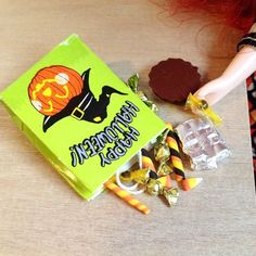 Miniature polymer clay Halloween candy for Blythe & Pullip dolls