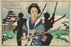 Nakano Takeko, female warrior in the Battle of Aizu, part of the Boshin War resisting the Meiji Restoration.