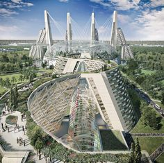 shortlisted for world expo 2017 astana, kasakhstan - staggered towers mark moshe safdie's vision