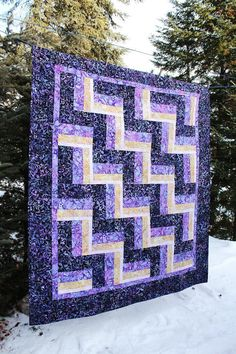 Not Your Mother's Rail Fence PDF Quilt by Highway10Designs