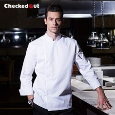 """HOT PRICES FROM ALI - Buy """"Chef's Long sleeves Breathable Summer Wear Work Clothes Men Overalls Hotel Kitchen Chef Black Uniform Send apron chef jackets"""" from category """"Sports & Entertainment"""" for only USD. Hotel Uniform, Men In Uniform, Chef Uniforms, Perth, Grey Kitchens, Kitchen Grey, Hotel Kitchen, Restaurant Kitchen, Chef Work"""