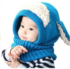 aec6a5aee13 Cute Warm Baby Knitted Hat With Scarf Earflap (FREE Shipping)