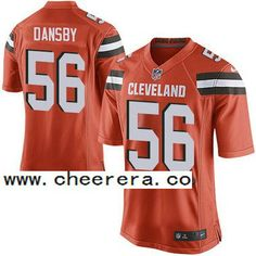 Men's Cleveland Browns Brown #56 Karlos Dansby Orange Alternate 2015 NFL Nike Elite Jersey