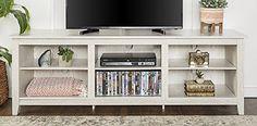 """WE Furniture 70"""" Wood Media TV Stand Console - White Wash... https://www.amazon.com/dp/B071V84RMW/ref=cm_sw_r_pi_dp_U_x_yGI.AbH9YPCRK"""