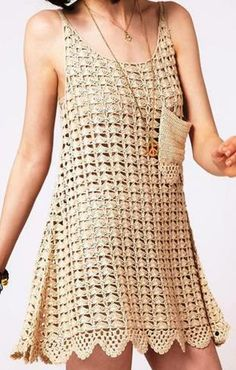 Häkelmuster-Fundgrube: Swinger-Kleid