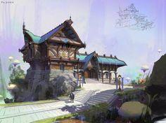 architectural design , Eart CG on ArtStation at https://www.artstation.com/artwork/xZxBE:
