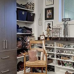 Shelves For Shoes, Transitional, Closet, Lavallee Construction