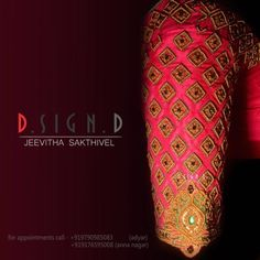 8 Awesome South Indian Bridal Blouse Design by DSignD - South Indian Bridal Blo. - 8 Awesome South Indian Bridal Blouse Design by DSignD – South Indian Bridal Blouse Design for mo - Wedding Saree Blouse Designs, Silk Saree Blouse Designs, Wedding Blouses, Sari Design, South Indian Blouse Designs, Embroidery Neck Designs, Embroidery Blouses, Hand Embroidery, Maggam Work Designs