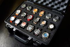 DIY Pelican Watch Case ya know, cuz you have the money for a pelican case and time to shadow all your watches...