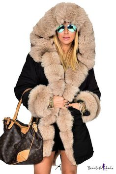 Shopping Faux Fur Collar Patch Pocket Plain Outerwear online with high-quality and best prices Outerwear at Luvyle. Winter Fashion Outfits, Fur Fashion, Trendy Outfits, Fashion Trends, Trendy Fashion, Cozy Outfits, Fashion Sets, Classic Fashion, Fashion Inspiration