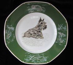 Hermes Porcelaine Plate Chiens Courants Chiens D'Arret Scottish Terrier Paris   eBay
