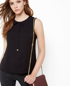 Bow neckline top