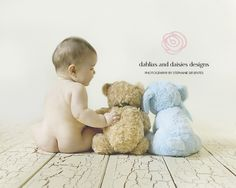 Dallas Baby Photographer  6 month old with teddy bears