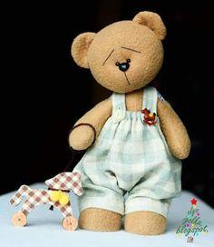 Blog do passo a passo: Ursinho fofo! Urso em Feltro ou tecido passo a pas...