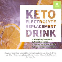 Just starting out on your keto journey? Make sure you stay hydrated and keep your electrolytes up! Keto Electrolytes, Make Sure, How To Make, Keto Flu, Just Start, Stay Hydrated, How To Squeeze Lemons, Graham, Helpful Hints