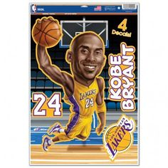 Los Angeles Lakers Kobe Bryant Caricature 11x17 Multi Use Decal
