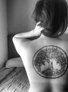 Celtic tree of life tattoo... If I had the nerve for such a big one, this is beautiful.