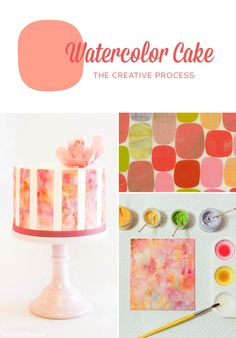 Allison Kelleher of AK Cake Design, is sharing a peek at her creative process as she explores watercolor on cake…