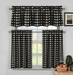 5 Sparkling Clever Hacks: Kitchen Blinds House fabric blinds for windows.Blinds For Windows Sunroom diy blinds venetian.Grey Blinds With Curtains. Grey Kitchen Blinds, White Kitchen Curtains, Kitchen Curtains And Valances, Gingham Curtains, Kitchen Curtain Sets, White Kitchen Decor, Tier Curtains, Curtains With Blinds, Valance Curtains