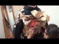 硬い帯にオススメ!パッセージヒダ、変形五つヒダ帯の結び方 成人式、卒業式、結婚式にも使える帯の作り方17(ゆっくり解説)着付け、着物、帯結び、振袖 福岡平尾の美容室ヘアーメイクDIVA - YouTube