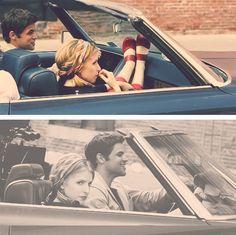 Anna Kendrick & Jeremy Jordan on the set of the film adaptation of The Last 5 Years