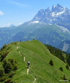 Sweet mountain bike trail with epic view! Champery Ridge ~ Champery Via The Col Du Cou, French Alps