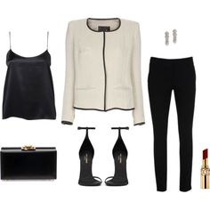 chic by trenchcoatandcoffee on Polyvore featuring Mode, Isabel Marant, Warehouse, Yves Saint Laurent and C. Wonder