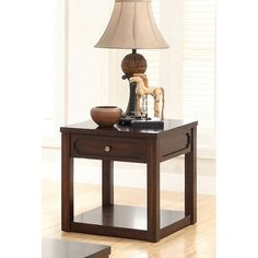 Furniture of America Tivolli End Table - Brown Cherry | from hayneedle.com