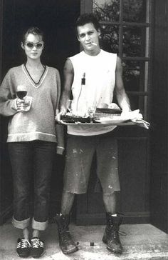 kate moss and johnny depp - breakfast for two