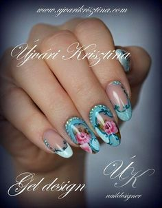 Extend style to your fingertips by using nail art designs. Worn by fashion-forward personalities, these nail designs can add instant elegance to your apparel. Gel Designs, Best Nail Art Designs, Nail Designs Spring, Beautiful Nail Designs, Flame Nail Art, Nail Art Pen, Cool Nail Art, Gorgeous Nails, Love Nails
