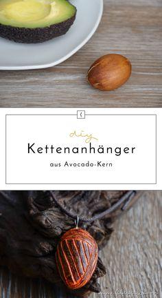 Unique Kettenanh nger aus Avocado Kern schnitzen