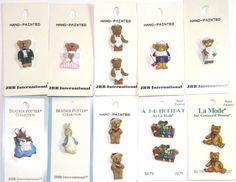 La Mode Buttons, JHB Buttons, Beatrix Potter Buttons, Teddy Bear Buttons, Buttons, Decorative Button Embellishments (Bears & Beatrix Potter) by terrymillerdesigns