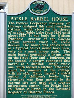 Discover Pickle Barrel House in Grand Marais, Michigan: This little barrel-shaped cottage by Lake Superior was once a cartoonist's summer retreat. Grand Marais Michigan, Pictured Rocks National Lakeshore, Detroit History, The Mitten State, Cartoon House, Tiny House Movement, Upper Peninsula, Chicago Tribune, Northern Michigan