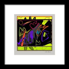 Abstract Framed Print featuring the digital art Midnight Dance by Janis Kirstein