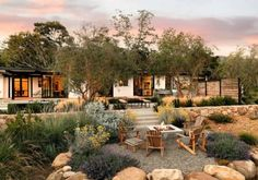 featured posts image for Montecito family home gets remarkable indoor-outdoor makeover Outdoor Rooms, Outdoor Gardens, Indoor Outdoor, Outdoor Living, Outdoor Decor, Outdoor Fire, Backyard Patio, Backyard Landscaping, Gravel Patio
