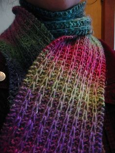Simple, pretty, and easy to memorize, this scarf makes great travel knitting, or a last minute gift.