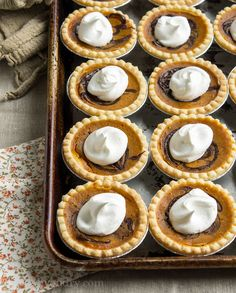 Pumpkin Nutella Tarts! The perfect dessert to bring to any party this Holiday Season!