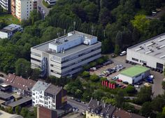 #RIEDEL Headquarters in Wuppertal from above.