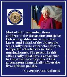~ Ann Richards via Texas Women's Coalition