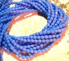 Periwinkle Blue Czech Glass Faceted 5mm by gypsyspiritstudio, $3.35