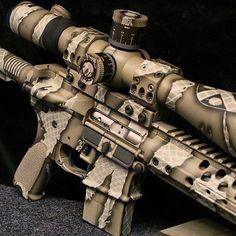 Cerakoted 6.8 Wilson Combat rifle with Spuhr mount.