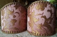 Pair of Clip-On Wall Sconces Shield Shades by OggettiVeneziani