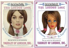Yardley of London vintage ad with Barbie