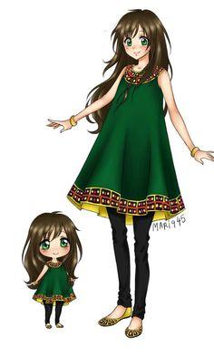 Character representing Pakistan by Mari945 on DeviantArt