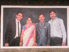 #StroCurve My Latest Family photo Portrait work on canvas, to my client Piyush Jain from Ranchi Medium: Acrylic on canvas, Size: 34 x 21 inches