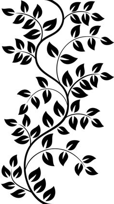Stencil Patterns, Stencil Designs, Hand Embroidery Designs, Embroidery Patterns, Leaf Stencil, Flower Stencils, Cnc Cutting Design, Motif Floral, Glass Design