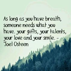 Another good one from Joel Osteen