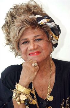 """Puerto Rico's singer Ruth Fernandez poses for a photo while filming the movie """"No Me Digas Adios"""" in San Juan, Puerto Rico. Fernandez, a pioneer singer who broke racial and gender barriers and was later elected a senator for the U.S. territory, died Monday Jan. 9, 2012 of septic shock and pneumonia, producer Vicky Hernandez told reporters. She was 92."""