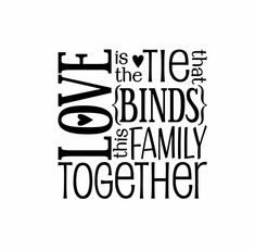 Family Vinyl Wall Decal Wall Quote Subway Wall Decals Love Block Art Saying for Living Room Family Room