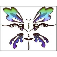 Butterfly Face Temporary Tattoo >>> Want to know more, click on the image. (This is an affiliate link) #TemporaryTattoos